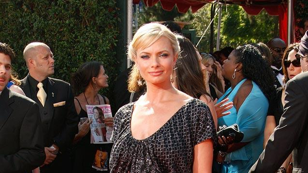 Jaime Pressly arrives at the 59th Annual Primetime Emmy Awards at the Shrine Auditorium on September 16, 2007 in Los Angeles, California.