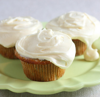 Zucchini Cupcakes with Maple Cream