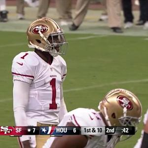 San Francisco 49ers quarterback Josh Johnson TD pass to wide receiver Bruce Ellington