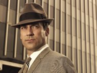 "FILE- This file photo released by AMC shows Jon Hamm as Don Draper in ""Mad Men"". The show has helped bring back the '60s, including hats. (AP Photo/AMC Frank Ockenfels, FILE)"