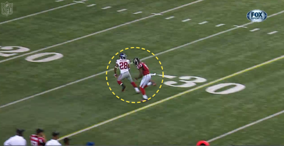 How did Julio Jones beat the Giants deep?