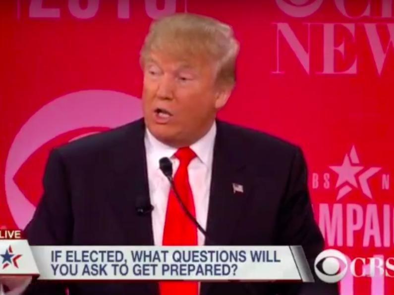 Debate moderator to Donald Trump: What are the first 3 questions you'd ask in the Situation Room?