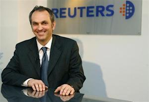 GM Europe CFO Maestri poses after an exclusive interview at the Reuters Auto Summit in Frankfurt