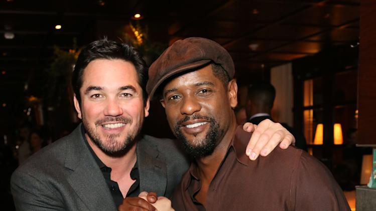 Dean Cain, left, and Blair Underwood attend Hennessy Black: A Dinner with LL Cool J and Mark Burnett Celebrating Music's Biggest Night Out, on Sat., Feb., 9, 2013 in Los Angeles. (Photo by Casey Rodgers/Invision for Hennessy/AP Images)