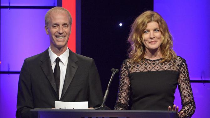 Director Dan Gilroy and actress Rene Russo speak at the the 65th annual ACE Eddie Awards in Beverly Hills