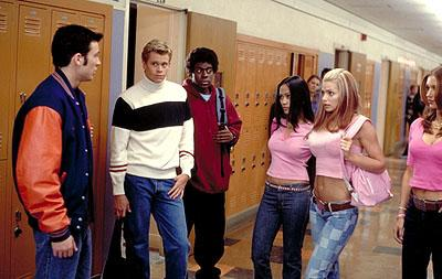 Chris Evans , Eric Christian Olsen , Deon Richmond , Joy Bisco , Jaime Pressly and Morisa Taylor Kaplan in Columbia's Not Another Teen Movie
