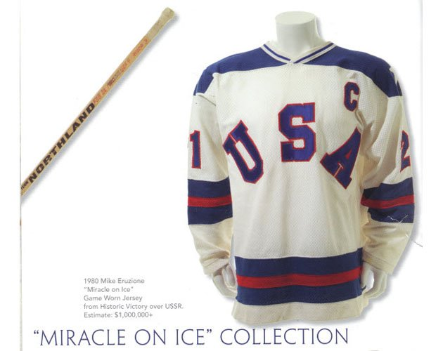 Mike Eruzione's Game-worn 'Miracle On Ice' Jersey Could Be Yours… For About A Million Dollars