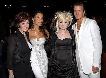 Sharon Osbourne, Victoria Beckham, Kelly Osbourne, David Beckham