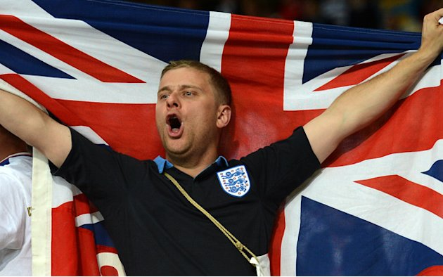 An English Supporter Celebrates …