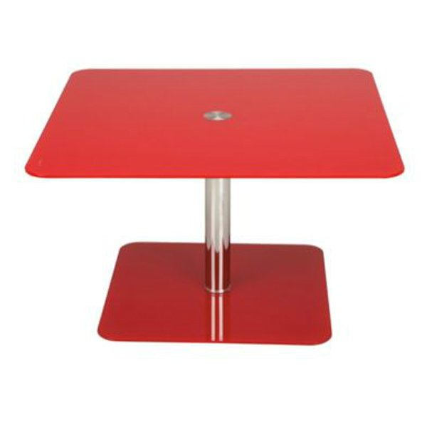 Atom Red Pedestal Coffee Table - 41.25 - Tesco