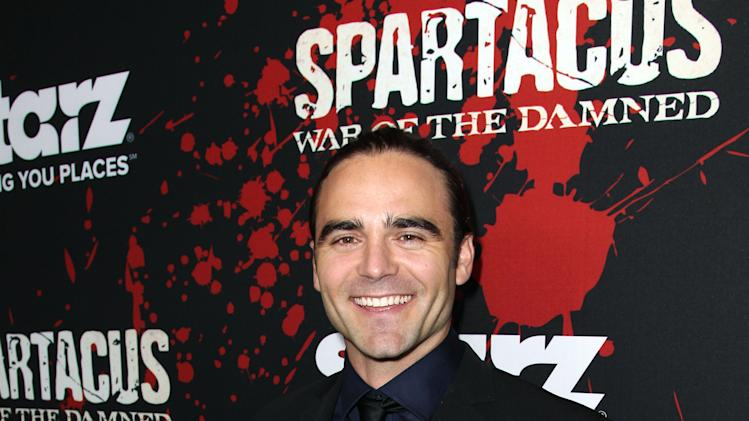 "IMAGE DISTRIBUTED FOR STARZ - Dustin Clare arrives at the premiere of ""Spartacus: War of the Damned"" on Tuesday, Jan. 22, 2013 in Los Angeles. ""Spartacus: War of the Damned"" premieres Friday, Jan. 25 at 9PM on STARZ. (Photo by Matt Sayles/Invision for STARZ/AP Images)"
