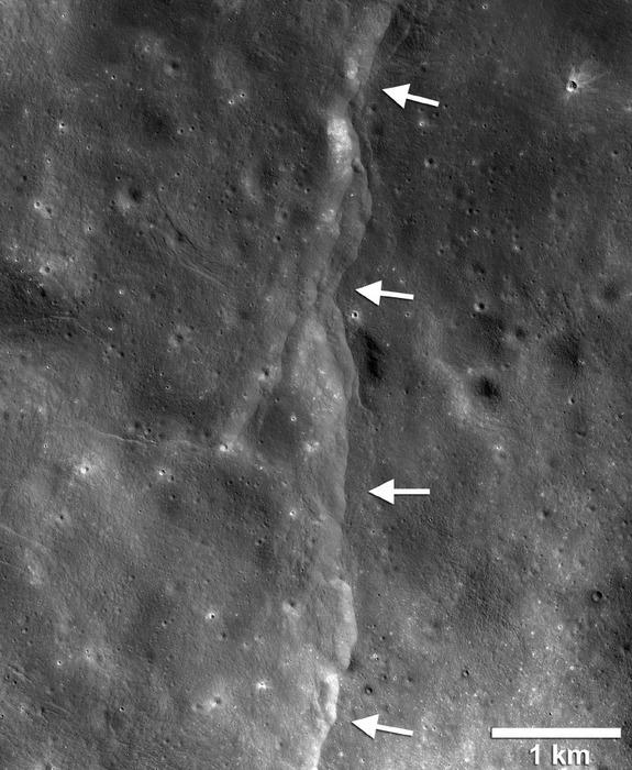 Earth's Gravitational Pull Cracks Open the Moon