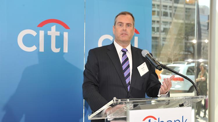 Scott Stokes, Citi Market President, speaks at Citibank's newest branch opening on Wednesday, April 10, 2013 in Washington, DC. Citibank's branch network spans approximately 4,000 worldwide. (Larry French/AP Images for Citi)
