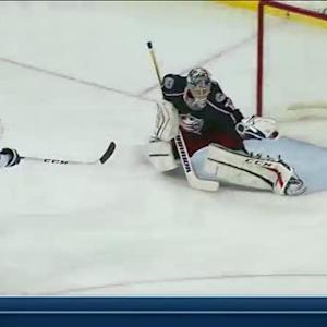Bobrovsky robs Brown with glove on breakaway