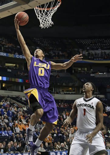 LSU beats Georgia 68-63, advances to SEC quarters