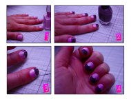 Four simple steps to a fun nail art design.