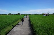 Jogging tracks in Bali