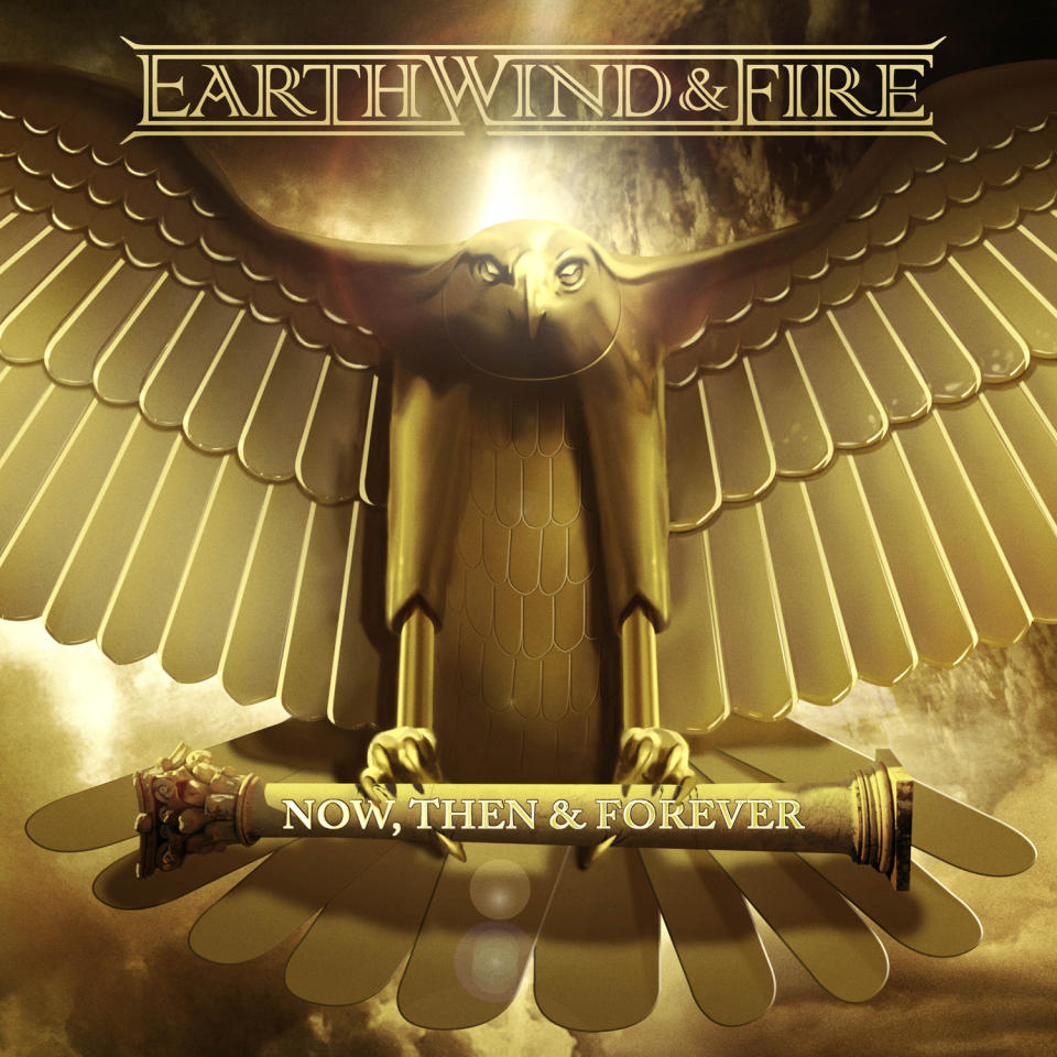 "This CD cover image released by Sony Legacy shows ""Now, Then & Forever,"" by Earth Wind & Fire. (AP Photo/Sony Legacy)"