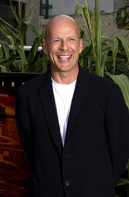 Bruce Willis at the New York premiere of Touchstone's Signs