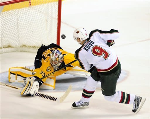 Wilson scores lone SO goal, lifts Preds over Wild