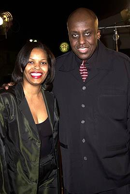 Bill Duke and gal at the Westwood premiere of Warner Brothers' Exit Wounds