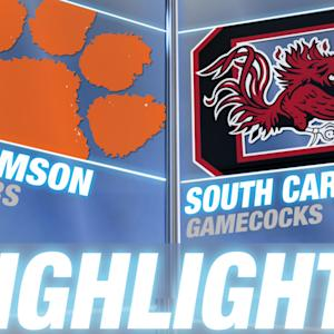 Clemson vs South Carolina | 2014-15 ACC Men's Basketball Highlights