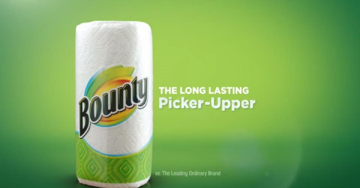 Clean Up With Bounty® Paper Towels