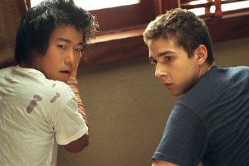Aaron Yoo and Shia LaBeouf in DreamWorks Pictures' Disturbia