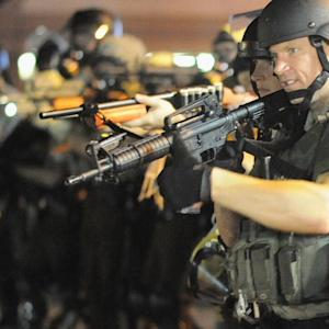 PENTAGON: POLICE CONTROL HOW MILITARY EQUIPMENT IS USED