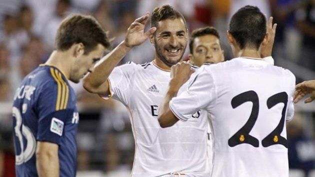 on Real Madrid's Karim Benzema, Mesut Ozil and Angel Di Maria (Reuters)