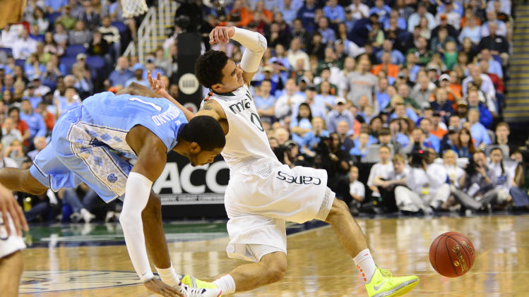 NCAA Basketball: ACC Tournament-Miami vs North Carolina