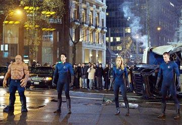 Michael Chiklis , Ioan Gruffudd , Jessica Alba and Chris Evans in 20th Century Fox's Fantastic Four