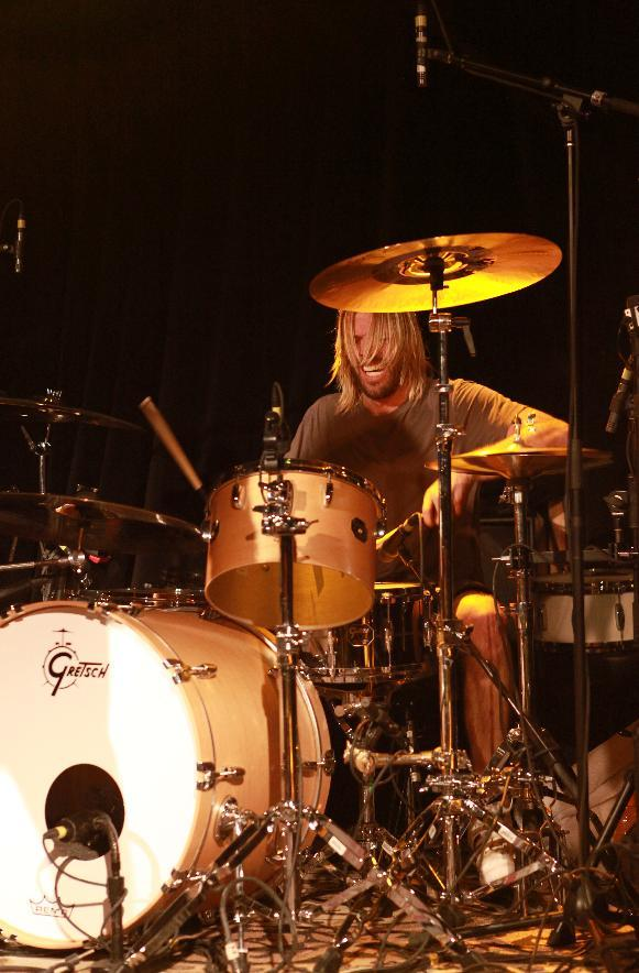 Taylor Hawkins, of the Foo Fighters performs with the Sound City Players at Park City Live Day 2 on Friday, January 18, 2013, in Park City, Utah. (Photo by Barry Brecheisen/Invision for Park City Live/AP Images)