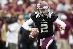 Manziel won the Heisman Trophy last season as the Aggies' quarterback
