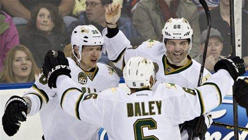 Jagr scores in OT to lift Stars over Oilers 3-2
