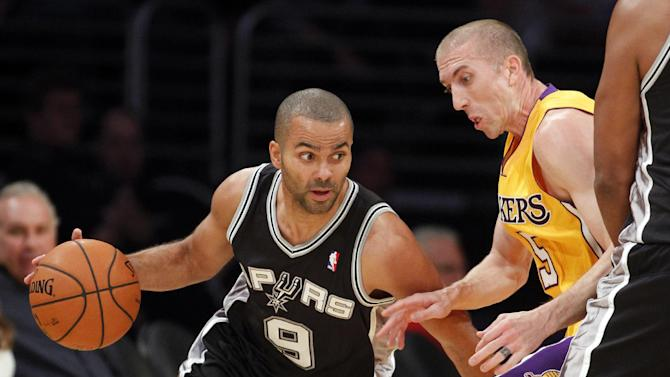 Parker, Spurs hold off Lakers 91-85 without Duncan