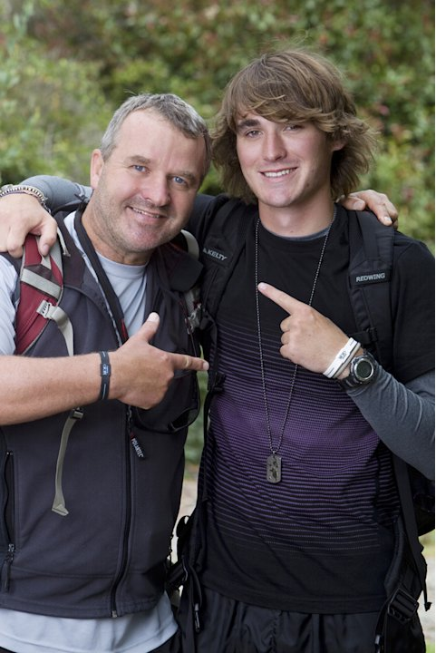 "Father/Son Sailors Laurence (left) and Zac Sunderland compete in ""The Amazing Race 19."""