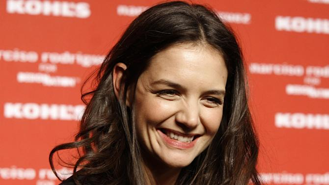 Actress Katie Holmes attends the Kohl's Narciso Rodriguez collection launch celebration at The IAC Building on Monday, Oct. 22, 2012 in New York. (Photo by Andy Kropa/Invision/AP)