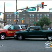 Philadelphia Police Say Suspected Drunk Driver Hit Fire Vehicle