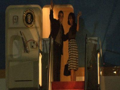 Raw:  President Obama and Family Depart for G8