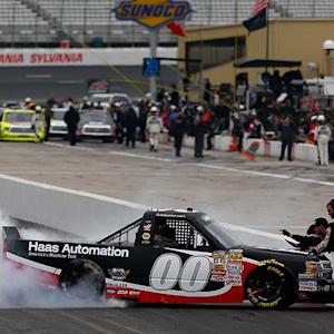 Custer celebrates as youngest NCWTS winner