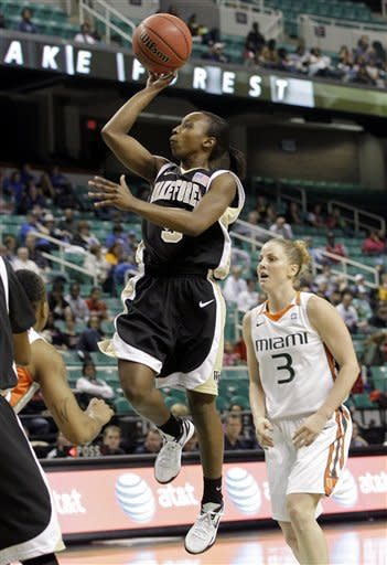 Wake Forest women upset No. 7 Miami 81-74