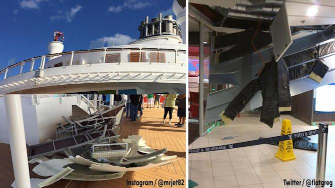 Passengers aboard rough cruise ship ride to get refunds, free cocktail hour