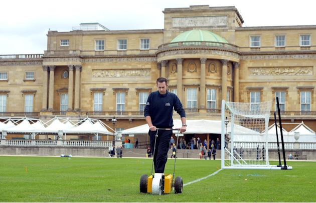 Buckingham Palace Prepares To Host Football Match