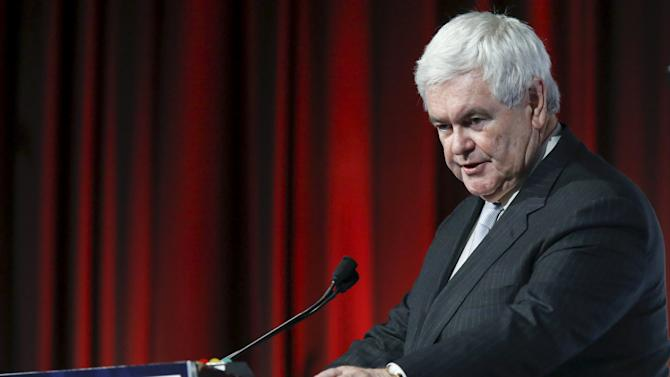 Political consultant and former Speaker of U.S. House of Representatives Gingrich addresses the third Annual Champions of Jewish Values International Awards Gala in New York