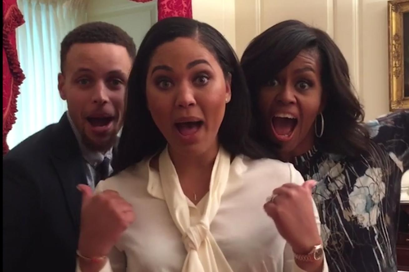 Steph Curry and his wife lip syncing the 'Banana' song with Michelle Obama will make your day