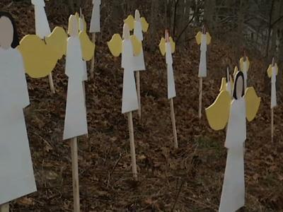 Raw: Angels Stand in Tribute to Conn. Victims
