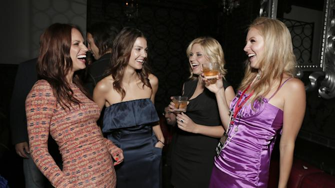 "COMMERCIAL IMAGE: From left, Stacy Stas, Tiffany Brouwer, Nikki Griffin and Madison Dylan attend the Entertainment One  ""Haven"" Party at Comic Con 2012 on Thursday, July 12, 2012 in San Diego. (Photo by Todd Williamson/Invision for eOne/AP Images)"