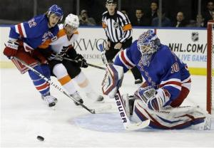 Rangers top Flyers 2-1 for 2nd straight win