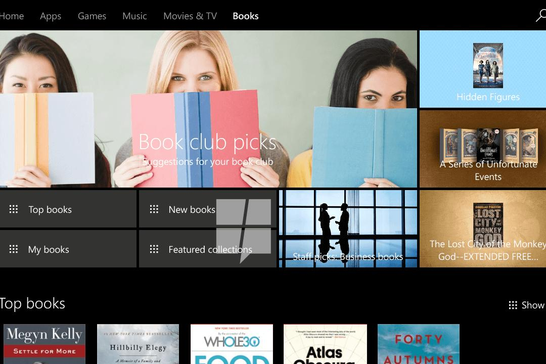 New images reveal Microsoft's upcoming and long-overdue ebook store